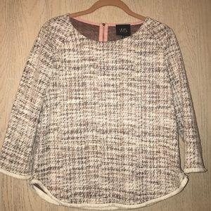 Knit Quarter Sleeve Blouse